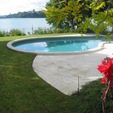 SP. Swimming Pool -curved coping & paving